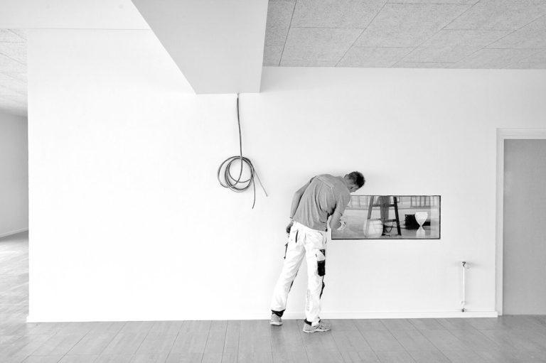 Industrimaler i kalundborg i sort hvid